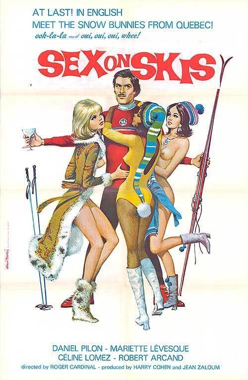 SNOW SKIING SEXY NAKED BABES original 1972 movie poster SEX ON SKIS APRES SKI