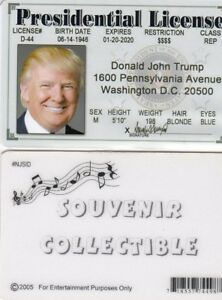 Fake President Trump States Ebay License Drivers The Id Donald United Of Card