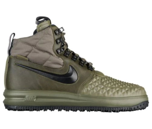 Men's Nike Lunar Force 1 Duckboots - 16682202 - Olive Black - Size 11.5