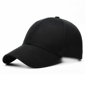 Polo-Style-Baseball-Cap-Ball-Dad-Hat-Adjustable-Plain-Solid-Washed-Cotton-Mens