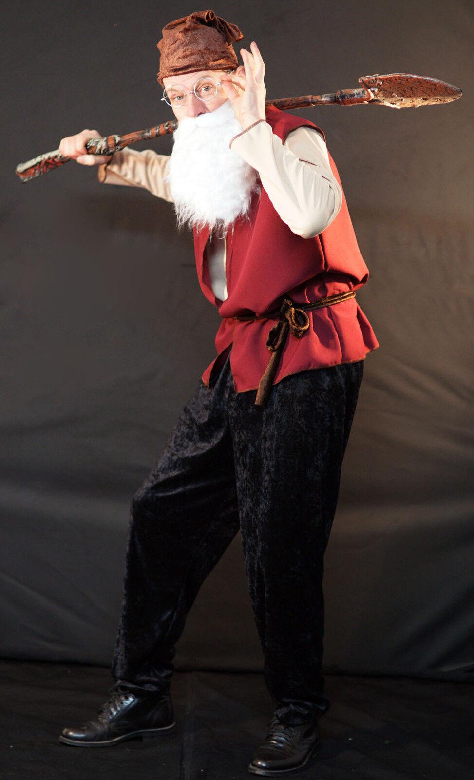 Stage-panto Schnee Weiß's Doc Zwerg   Gnome Herren Maskenkostüm zwei Größen  | Zuverlässige Qualität