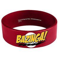 Big Bang Theory Bazinga Sheldon Cooper Red Rubber Licensed Bracelet Wristband on sale