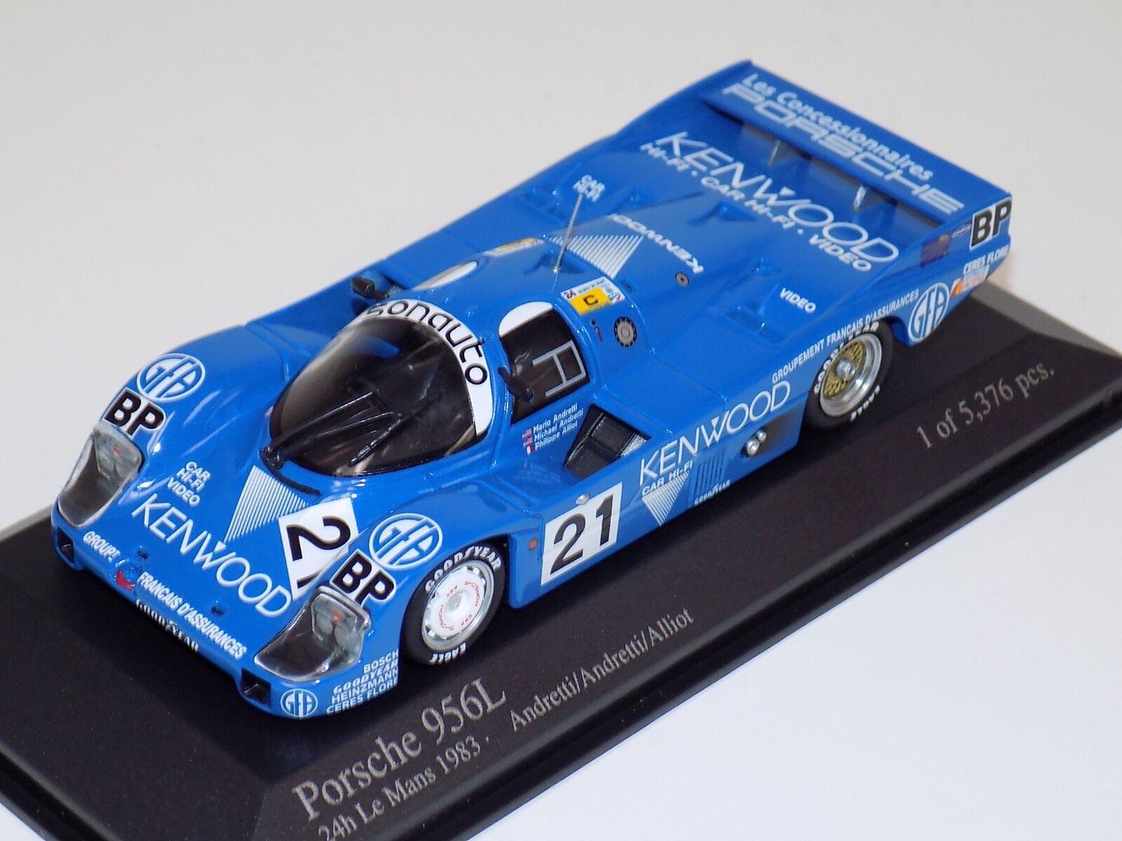 1 43 Minichamps Porsche 956L 24 H of LeMans  1983 Andretti   Alliot  magasin fashional à vendre