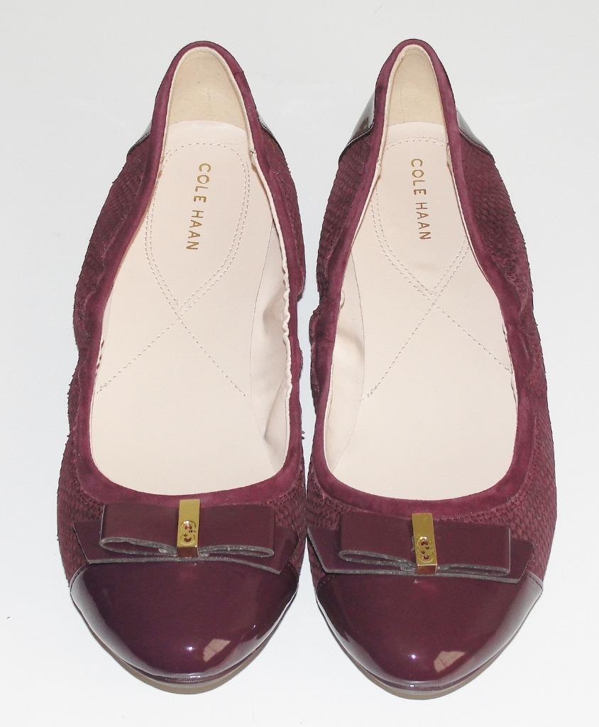 COLE HAANNWOB160.00PATENT LEATHER CAP TOE ELSIE BALLET II FLAT Schuhe11
