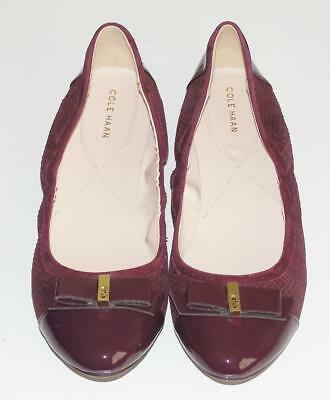 COLE HAAN~NWOB~$160.00~PATENT LEATHER CAP TOE *ELSIE BALLET II* FLAT SHOES~11