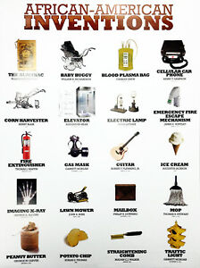 African American Inventors Poster Black History Famous People Inventions (18x24)