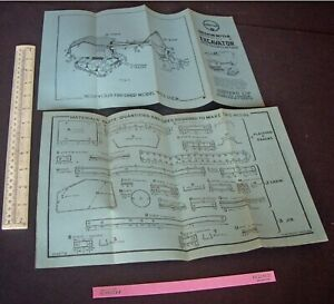 1940s Juneero UK Constructional Plans Excavator with Caterpillar Track in Steel