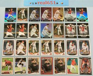 2009-TYLER-SKAGGS-Rookie-Prospect-FS-Lot-x-28-2013-Topps-Chrome-Xfractor-BP-Red