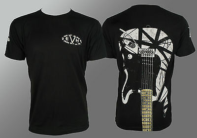 Authentic EDWARD VAN HALEN EVH White Stripe Guitar T-Shirt S M L XL XXL NEW