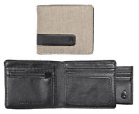 Nixon Showtime Men's Khaki Bi-fold Wallet + Removable Credit Card Holder