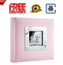 200 Page Baby Photo Album Frame Book Pink Picture Pocket Girl Boy Memory Photos
