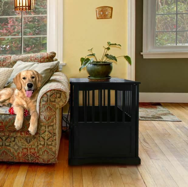 Pet Crate Table Kennel Dog House Bed Coffee Nightstand End Side Furniture Bench