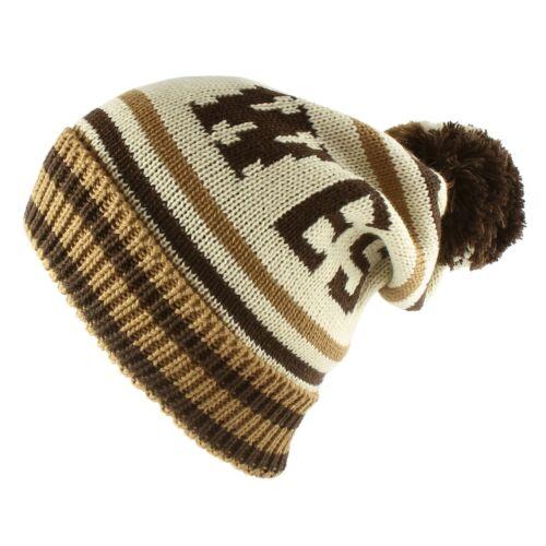 West Slouchy Knit Beanie Cap Pom Pom Warm Ski Winter Hat Casual Women Men Unisex