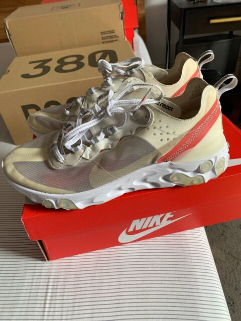 Pre Pwned Nike React Element 87 SAIL LIGHT BONE 10 Great Condition