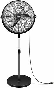 Simple Deluxe 18 Inch Pedestal Standing Fan High Velocity Heavy Duty Metal