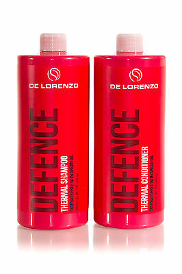 DELORENZO DEFENCE Thermal Shampoo 960ml & Conditioner 960ml Duo