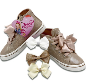 Top Shoes Girls Sneakers Kids Hair Bows
