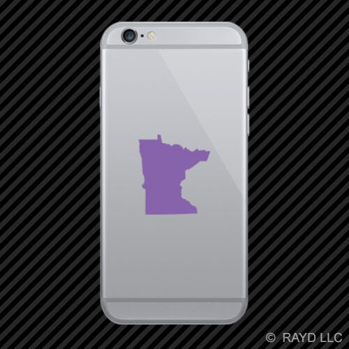 2x Minnesota Shaped Cell Phone Sticker Mobile MN many colors