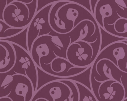 Lars Contzen  Ranken Vlies Tapete 2550-40  255040  violett