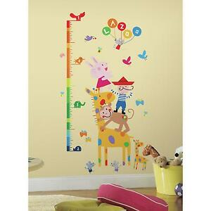Details About LAZOO GROWTH CHART WALL STICKERS BiG Colorful Room Decals NEW Kids  Room Decor