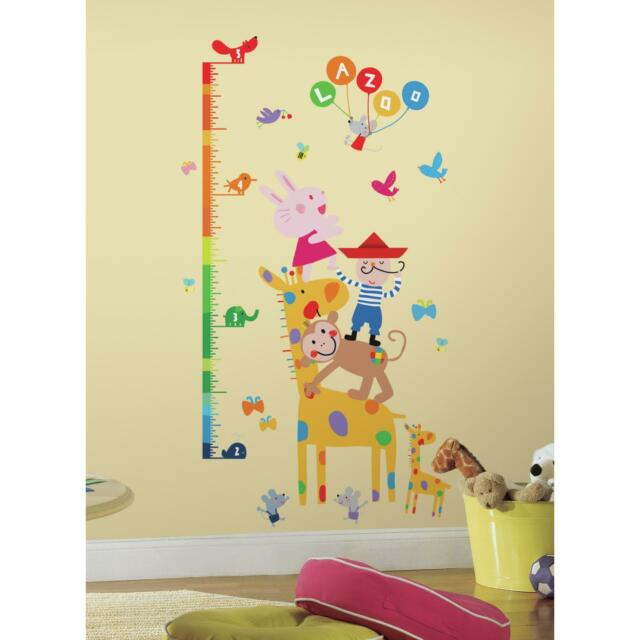 Roommates Laz0005gc Lazoo Growth Chart Peel And Stick Wall Decals Ebay