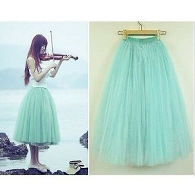 Fashion Princess Fairy Style 5 layers Tulle Dress Bouffant Skirt 5 Colors