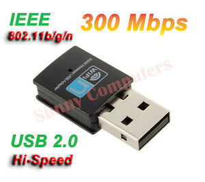 Details about Mini Wireless Network Card WiFi Internet Adapter USB Dongle  802 11n/g/b 300Mbps