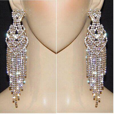 5 2 Heart Crystal Rhinestone Earrings