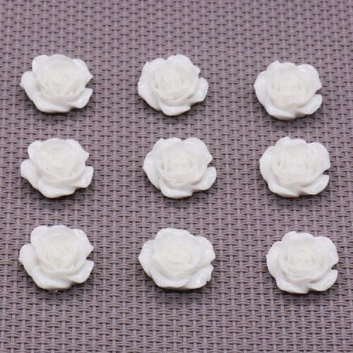 10//13//15//17//20mm Mini Resina Rose Flowers piso nuevo Cabujones Surtidos Hazlo tú mismo 50 un