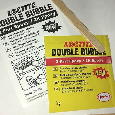 """Baustoffe & Holz Loctite """" Double-bubble """" Teil Zwei Epoxid 3g Beutel 1303596 Kleber"""