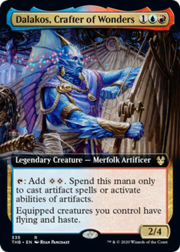 English Theros Bey Foil Extended Art NM-Mint Crafter of Wonders 1x Dalakos