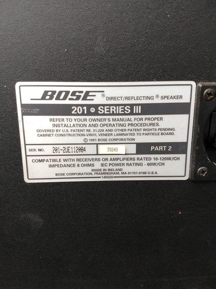Højttaler, Bose, 201 serie lll