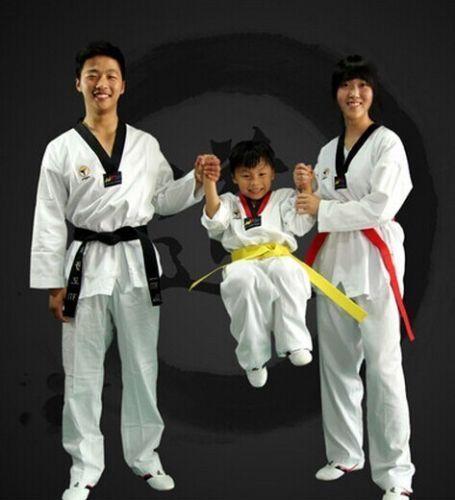 Unisex Kids Sport TaeKwonDo Uniform TKD Dobok Long Sleeve White Karate Suits Men