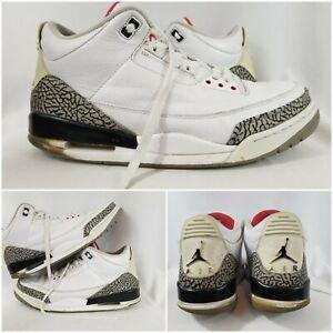 official photos dc217 c2814 Details about Air Jordan Retro 3 III OG White Cement Gray Grey Black Retro  Men's Size 13 air