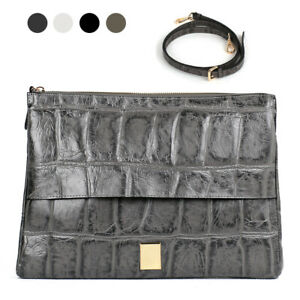 Body Daily Shoulder Clutch Cross Cowhide Leather Bag Classic Clone Croco Real jq4Ac35RL