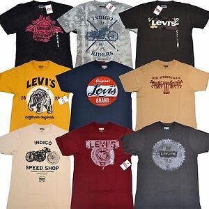 Levis-T-Shirt-Graphic-Crew-Neck-Short-Sleeve-Tee-Levi-039-s-Tshirt-New-S-M-L-Xl-Xxl