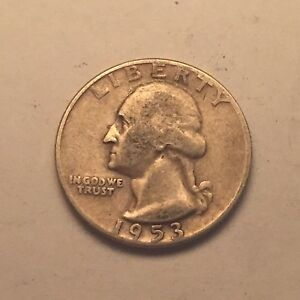 1953-P-Silver-Washington-Quarter-25C-90-Silver
