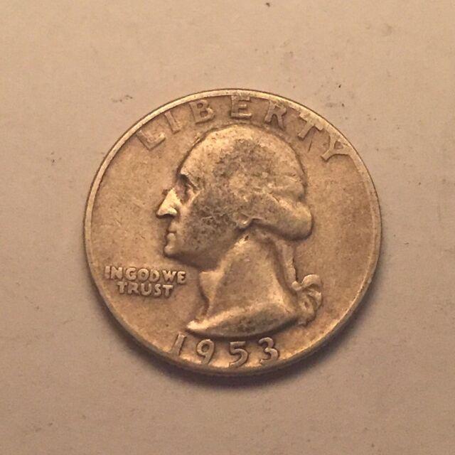 1953 P Silver Washington Quarter 25C 90% Silver!