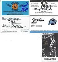 NBA LEGEND ISAIAH RIDER SIGNED BUSINESS CARD  LAKERS WORLD CHAMPION