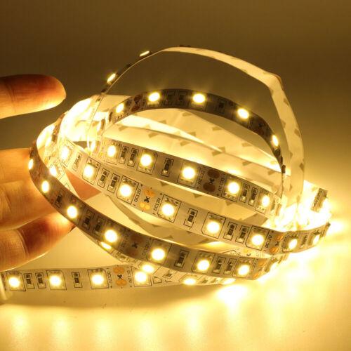 1-5M 5050 LED Strip Streifen Band Leiste 60LEDs//m Lichterkette Weiß Warmweiß 12V