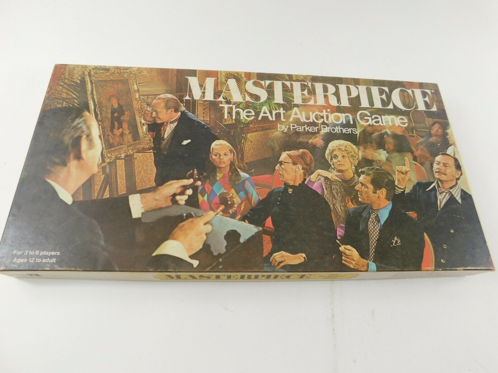 Vintage 1970 Masterpiece The Art Auction Board Game Parker Brossohers Collectible