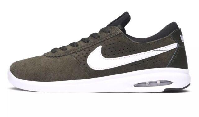 $100 Nike SB Air Max Bruin Vapor Men's Sz 9 Skateboard Shoes Green 882097 312