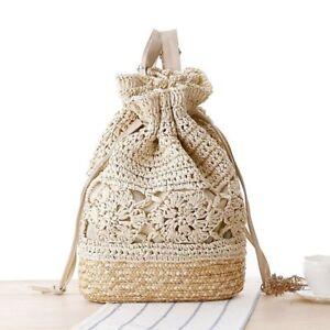 Summer-Drawstring-Backpack-Women-Beach-Shoulder-Bag-Crochet-Straw-Backpack