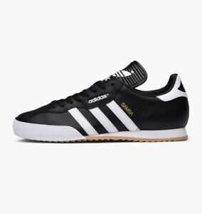 Adidas-Originals-Samba-Super-Suede-Sneaker-Uomo-Casual-Scarpe-Blu-Navy-Taglie-UK