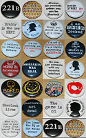 SHERLOCK (Various Designs) Button Badge 25mm / 1 inch HOLMES - WATSON - MORIARTY