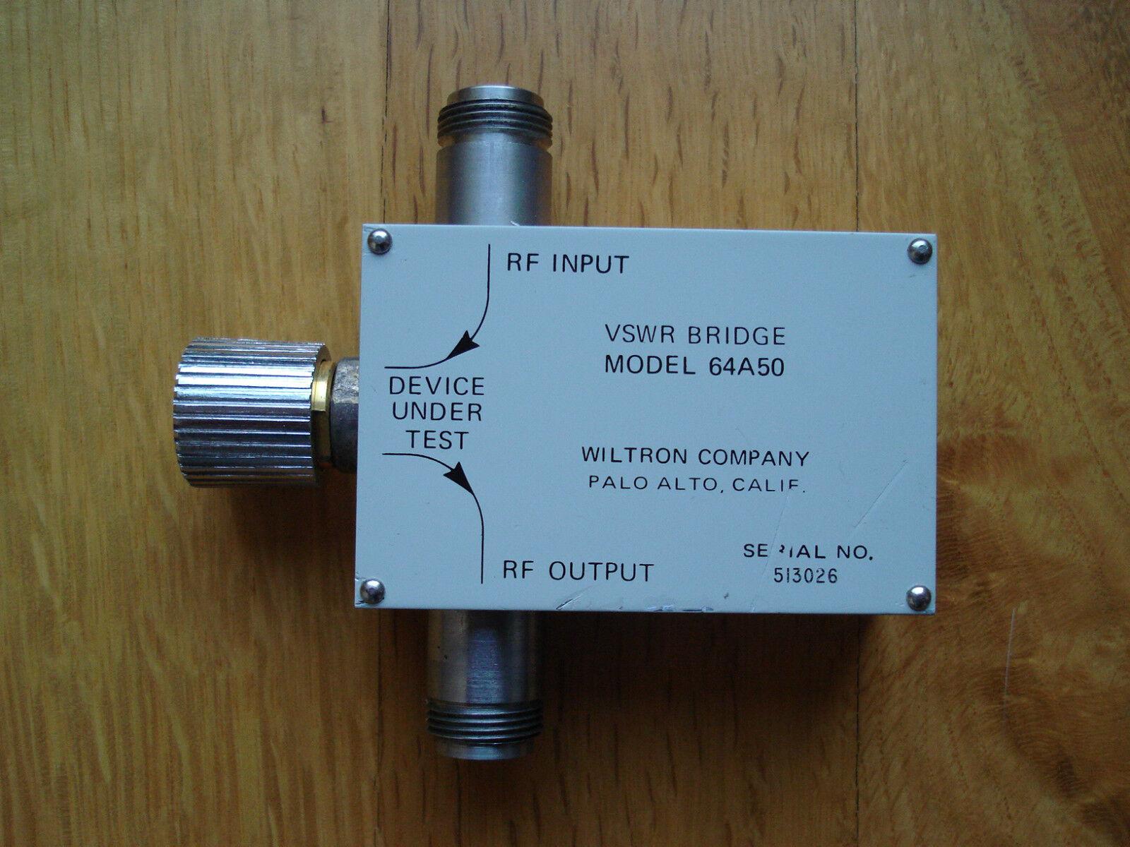 Wiltron VSWR Bridge Mod 64A50, 2-8 GHz, Directivity 42 dB.