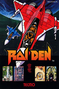 RAIDEN Retro Game Poster -4 Sizes- Tecmo MAME Arcade PC ...