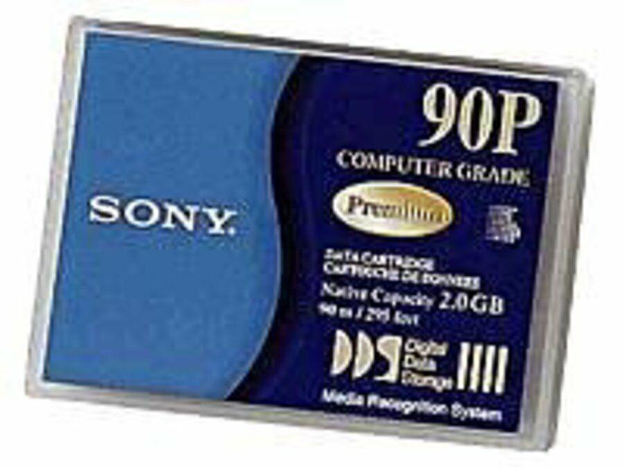 10x Sony DG-90P - Tape, 4mm DDS-1, 90m, 2/4GB