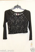Material Girl Black Long Sleeve Blouse Small