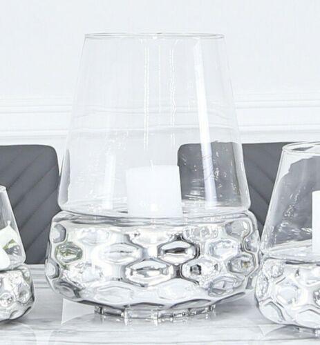 Silver Glass Fairylight Candle Holder Vase Table Centrepiece Bowl Decor 44cm
